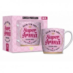 CANECA DE PORCELANA - URBAN 360ML - SUPER IRMÃ